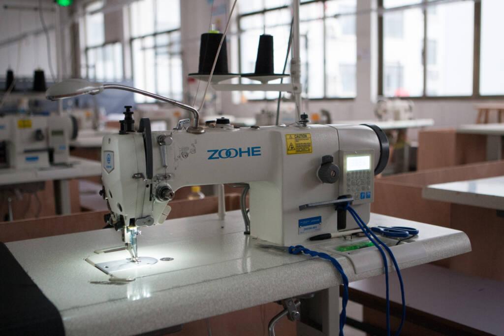 中国出張3日目、義烏市の縫製工場