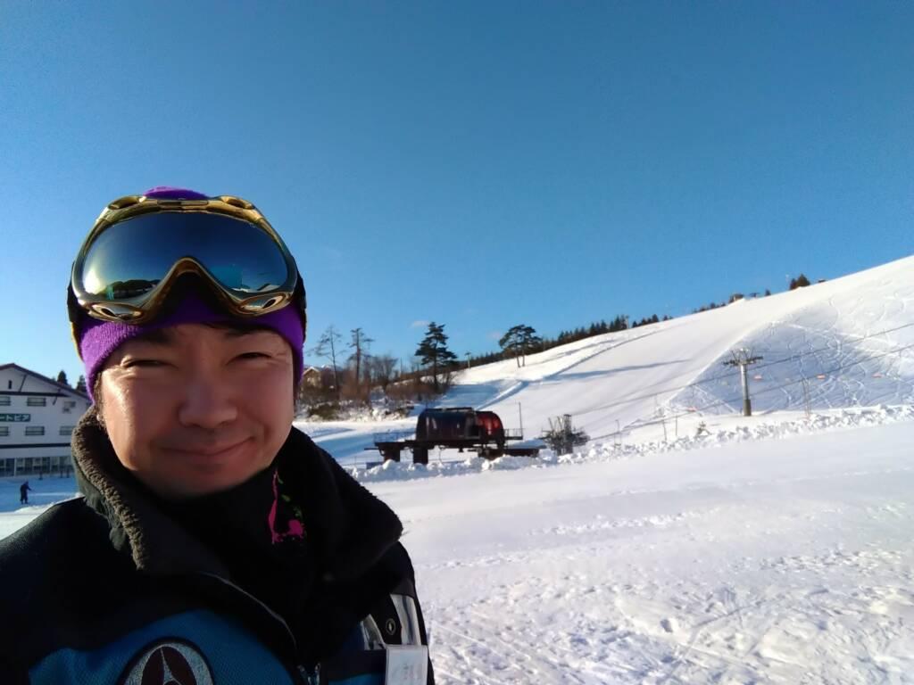 アップかんなべスキー場にスノーボードを教えにいきました