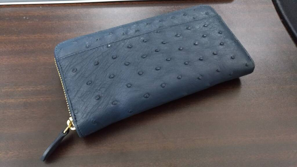オーストリッチの財布を頂きました
