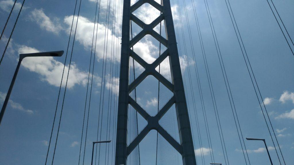 明石海峡大橋 快晴