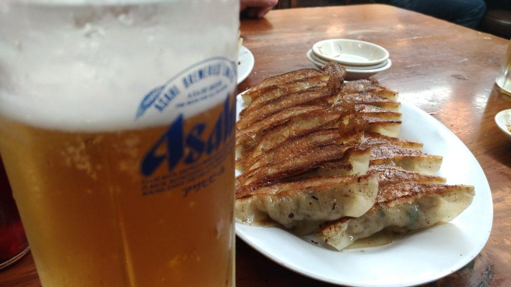 第一旭 お疲れ様セット 餃子 ビール