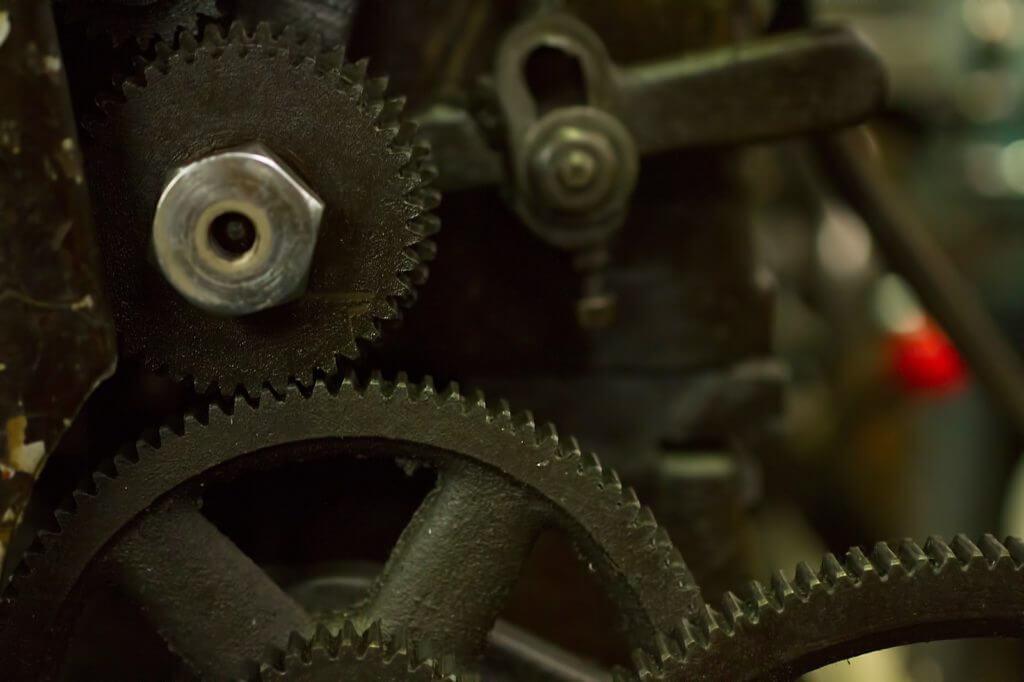 旋盤の歯車