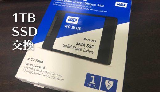 Windows10のメインマシンのSSDを250GBから1TBに交換しました
