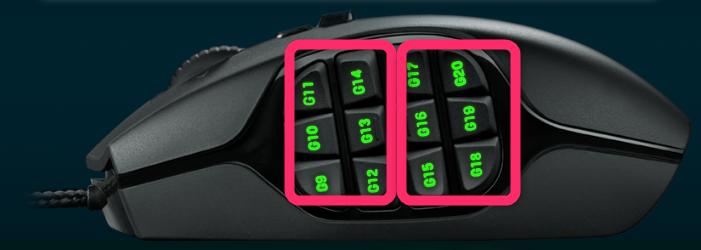 G600 ボタン