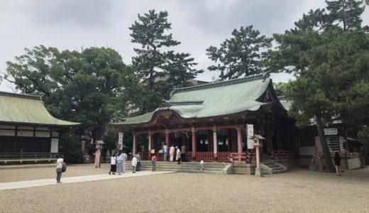 長田神社へおついたち参りへ