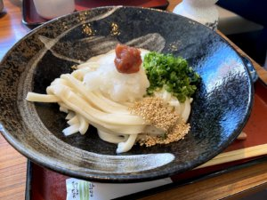 北野坂の手打ち讃岐うどん専門店、吉屋さんでとろろぶっかけうどんを食す